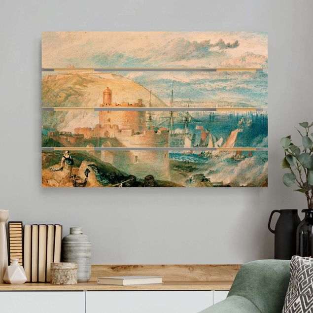 Holzbild - William Turner - Falmouth - Querformat 2:3