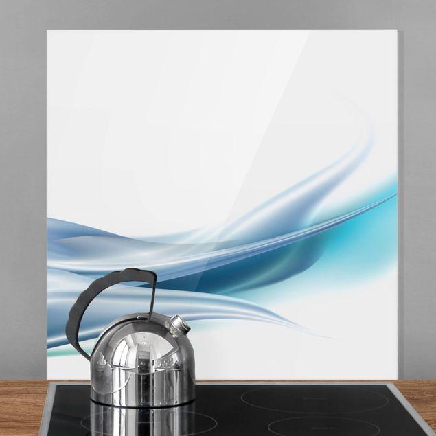 Glas Spritzschutz - Blue Dust - Quadrat - 1:1