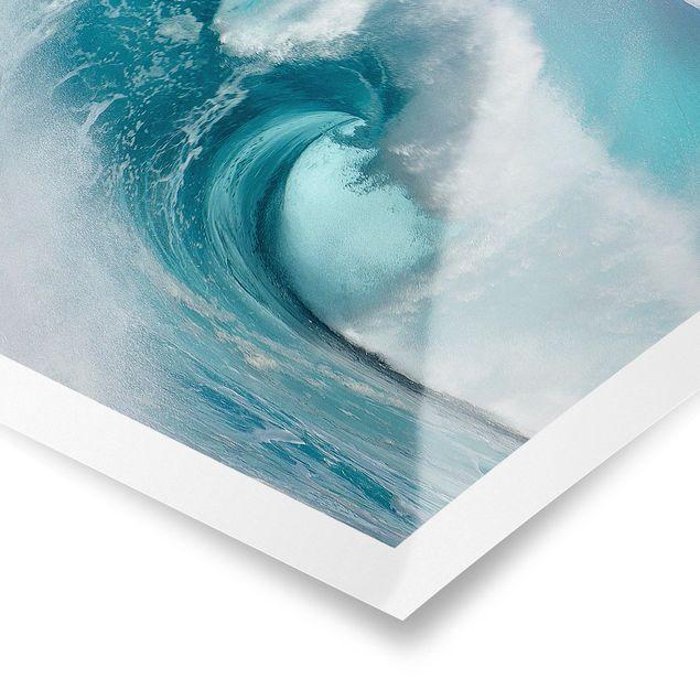 Poster - Tosende Wellen - Quadrat 1:1