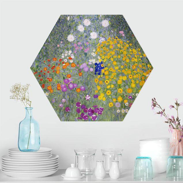 Hexagon Bild Forex - Gustav Klimt - Bauerngarten