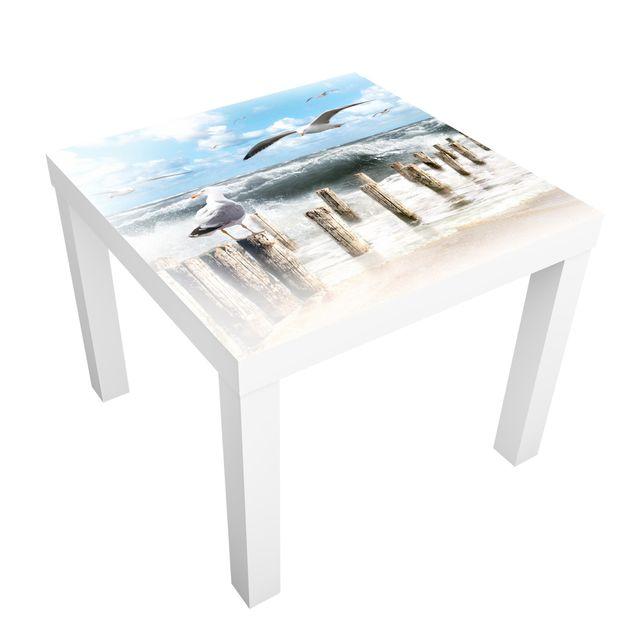 Möbelfolie für IKEA Lack - Klebefolie No.YK3 Absolut Sylt
