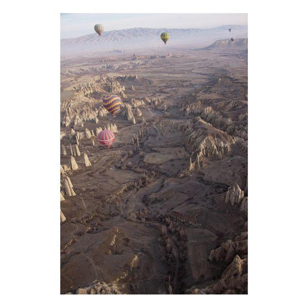 Forex Fine Art Print - Heißluftballons über Anatolien - Hochformat 3:2