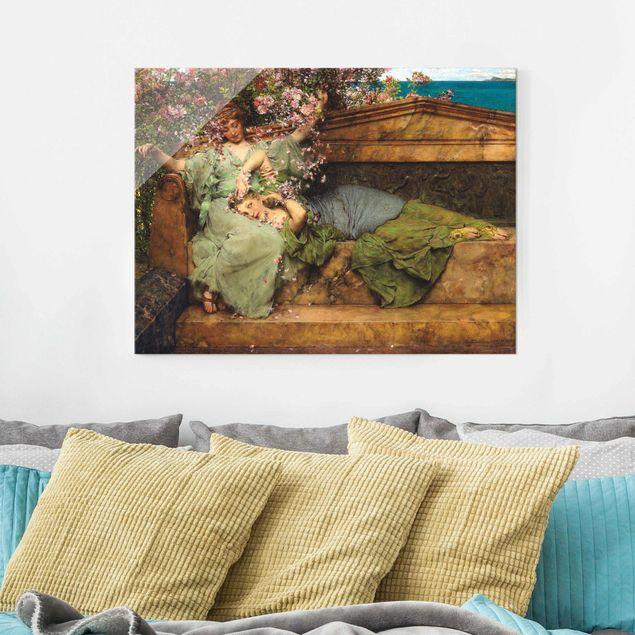 Glasbild - Sir Lawrence Alma-Tadema - Im Rosengarten - Querformat 3:4