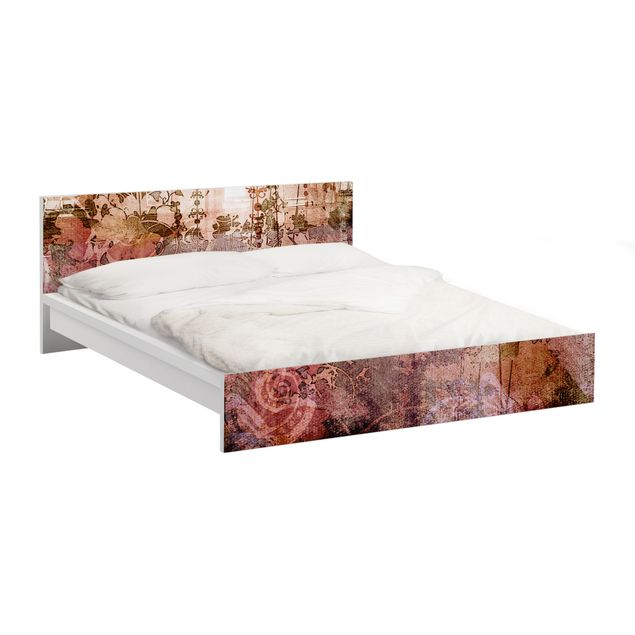 Möbelfolie für IKEA Malm Bett niedrig 180x200cm - Klebefolie Old Grunge