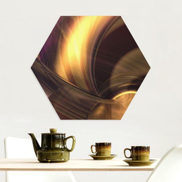 Hexagon Bild Alu-Dibond - Enchanted Fire