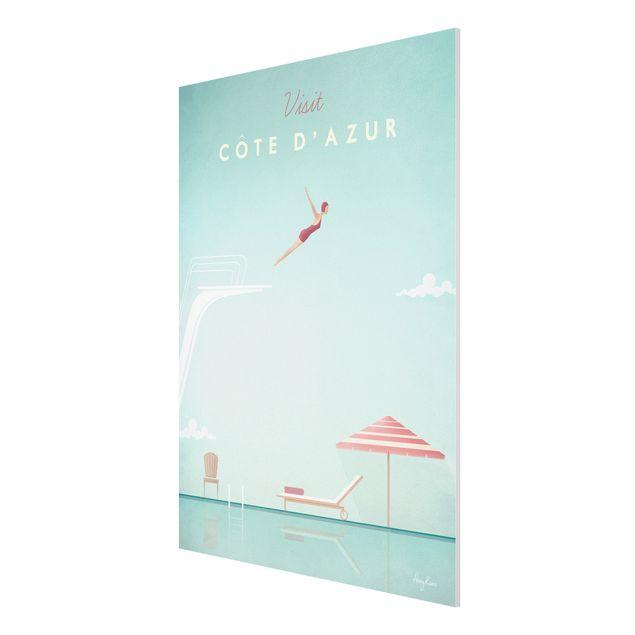 Forex Fine Art Print - Reiseposter - Côte d´Azur - Hochformat 4:3