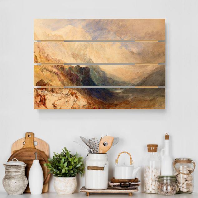 Holzbild - William Turner - Aostatal - Querformat 2:3