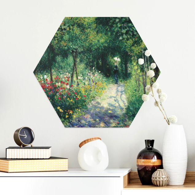Hexagon Bild Alu-Dibond - Auguste Renoir - Frauen im Garten