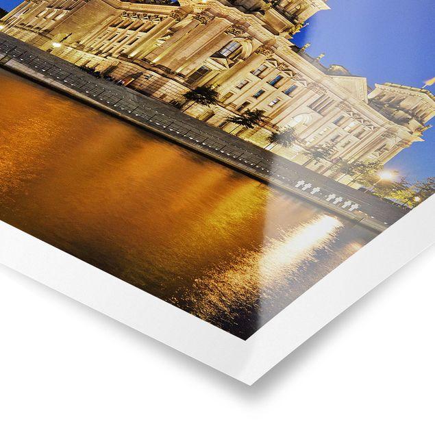 Poster - Reichstag Berlin - Quadrat 1:1