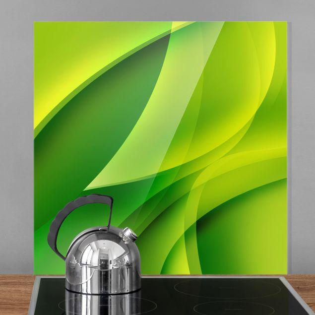 Glas Spritzschutz - Green Composition - Quadrat - 1:1