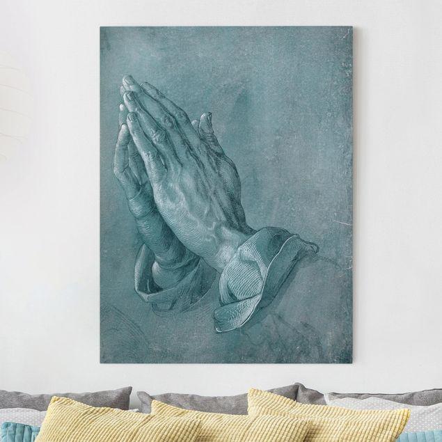 Leinwandbild - Albrecht Dürer - Studie zu Betende Hände - Hochformat 4:3