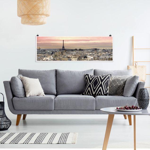 Poster - Paris hautnah - Panorama Querformat