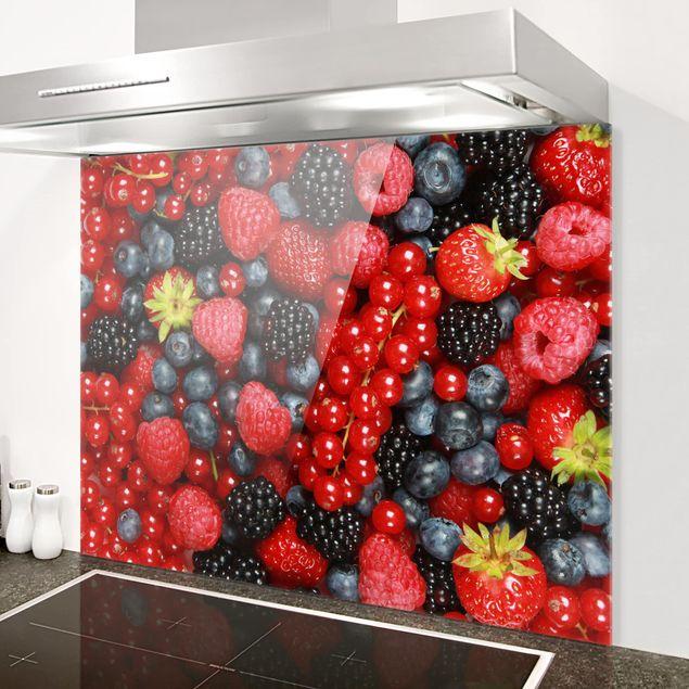Glas Spritzschutz - Fruchtige Waldbeeren - Querformat - 4:3