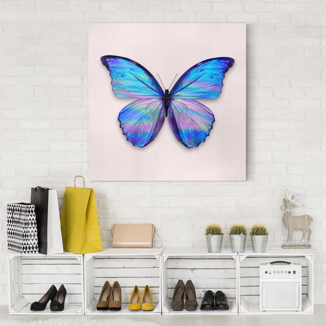 Leinwandbild - Jonas Loose - Holografischer Schmetterling - Quadrat 1:1