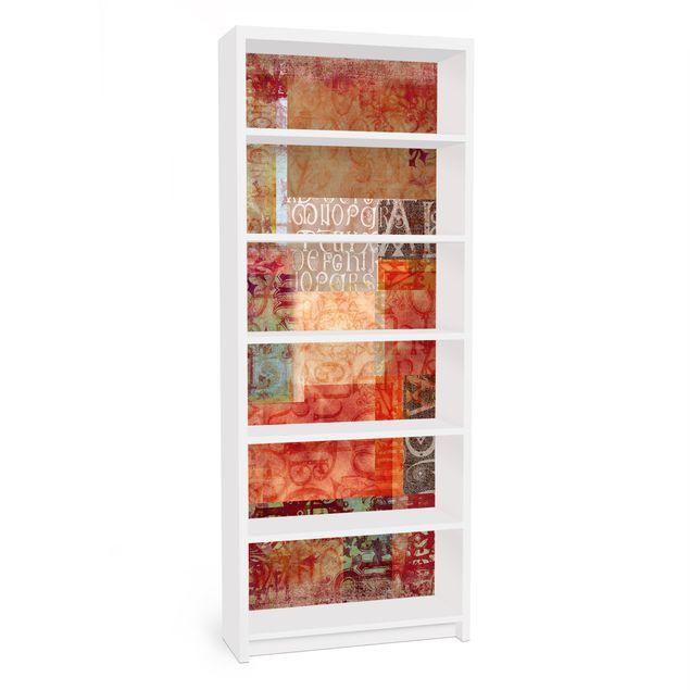 Möbelfolie für IKEA Billy Regal - Klebefolie Schriftmuster