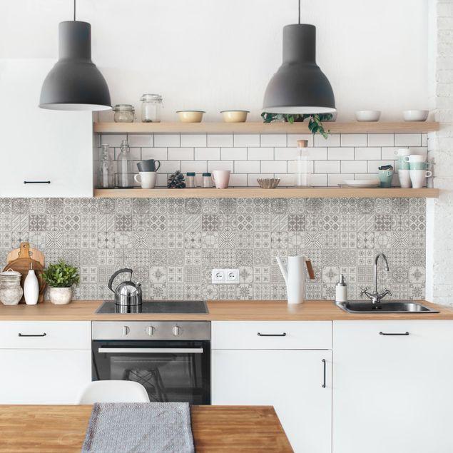 Küchenrückwand - Fliesenmuster Coimbra grau