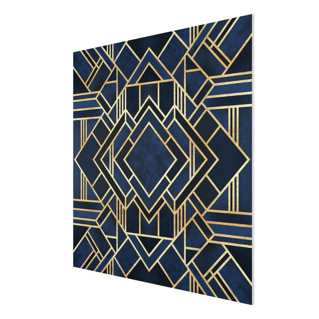 Forex Fine Art Print - Art Deco Gold - Quadrat 1:1