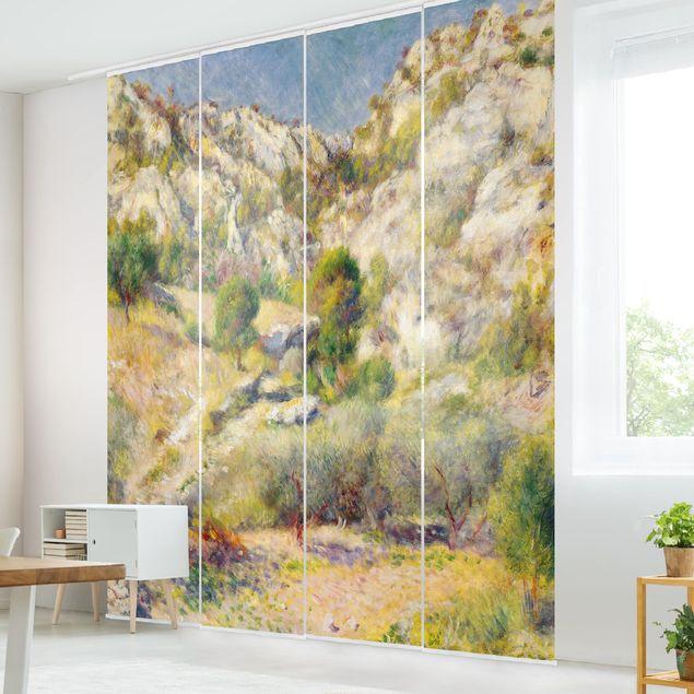 Schiebegardinen Set - Auguste Renoir - Felsen bei Estaque - 6 Flächenvorhänge