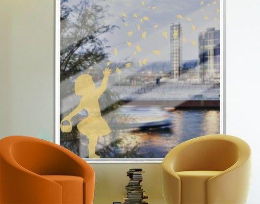 Fensterfolie - Fenstertattoo No.CA24 Blumenmädchen - Milchglasfolie