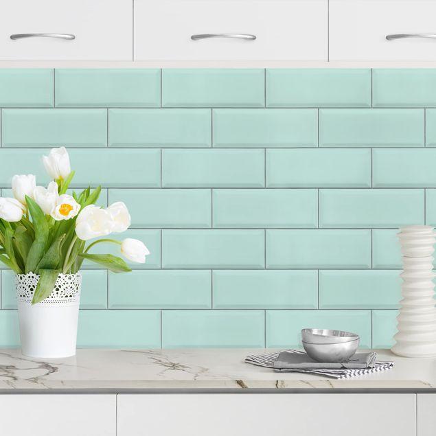 Küchenrückwand - Keramikfliesen Türkis