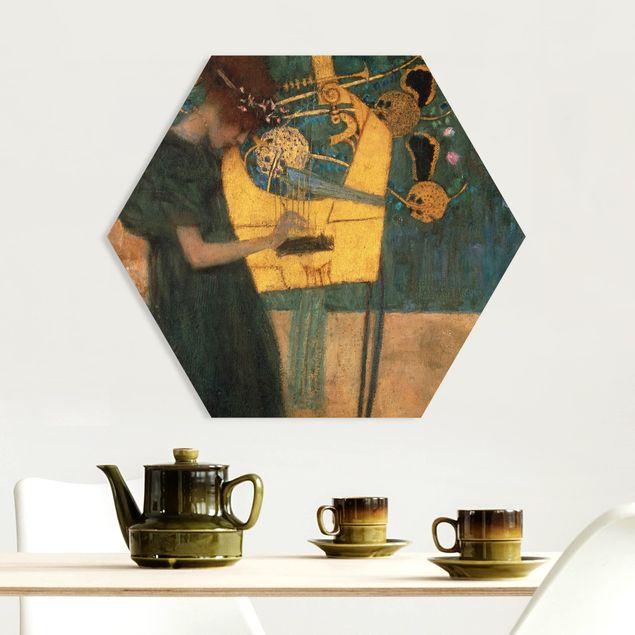 Hexagon Bild Forex - Gustav Klimt - Die Musik
