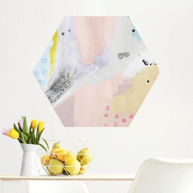 Hexagon Bild Alu-Dibond - Verschwommener Tagesanbruch IV