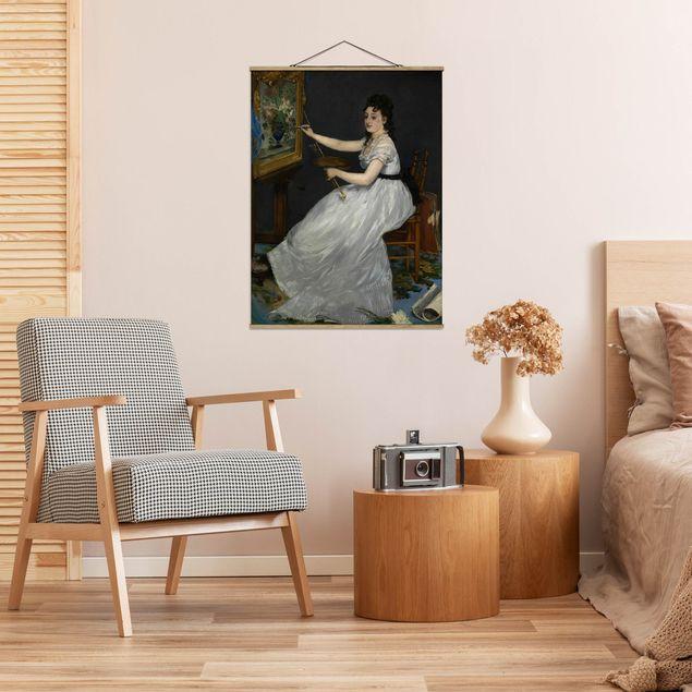 Stoffbild mit Posterleisten - Edouard Manet - Eva Gonzalès - Hochformat 4:3