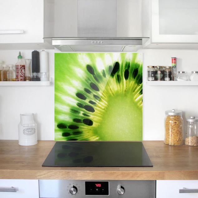Glas Spritzschutz - Shining Kiwi - Quadrat - 1:1