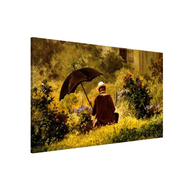 Magnettafel - Carl Spitzweg - Der Maler im Garten - Memoboard Querformat 2:3
