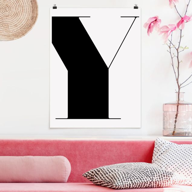 Poster - Antiqua Letter Y - Hochformat 3:4