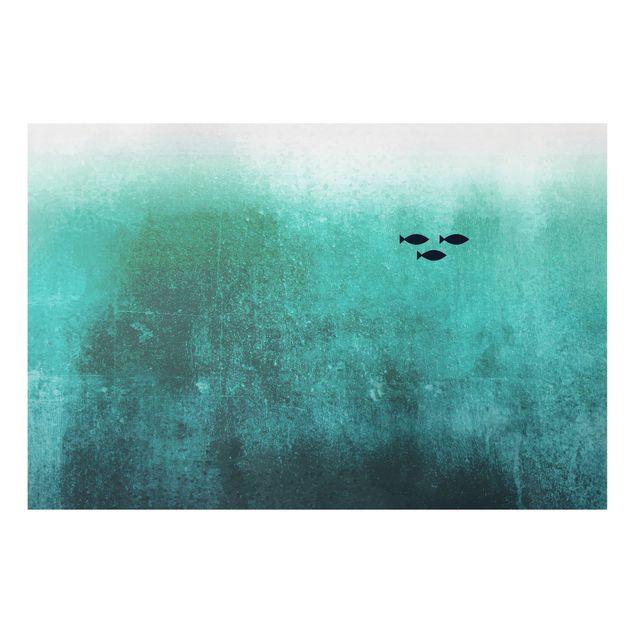 Forex Fine Art Print - Fische in der Tiefsee - Querformat 2:3