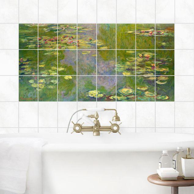 Fliesenbild - Claude Monet - Grüne Seerosen - Fliesensticker Set Querformat