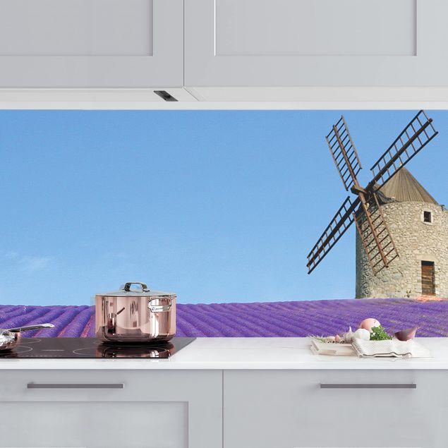 Küchenrückwand - Lavendelduft in der Provence