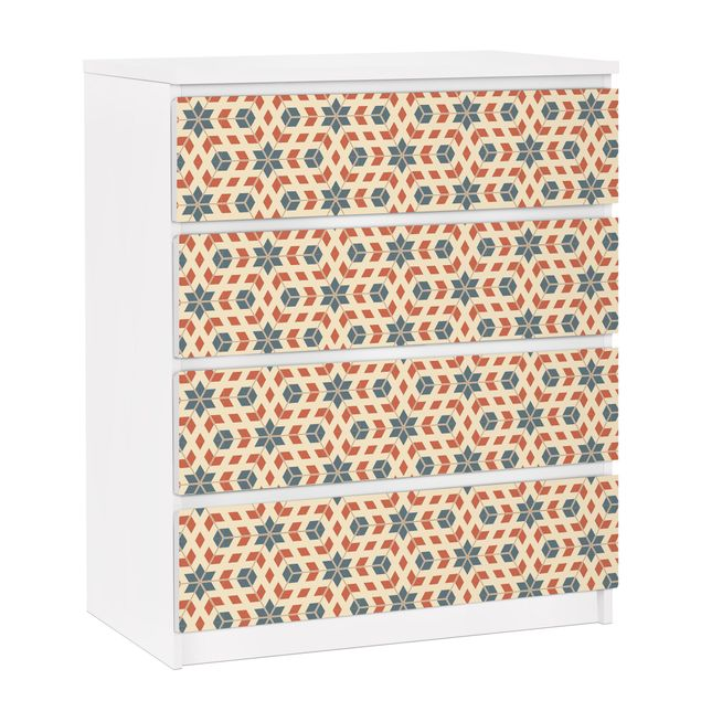 Möbelfolie für IKEA Malm Kommode - selbstklebende Folie Pop Art Design