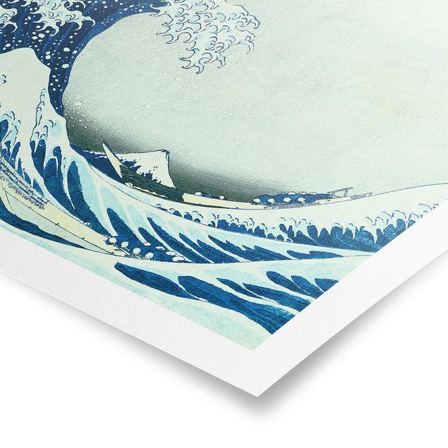Poster - Katsushika Hokusai - Die grosse Welle von Kanagawa - Querformat 2:3