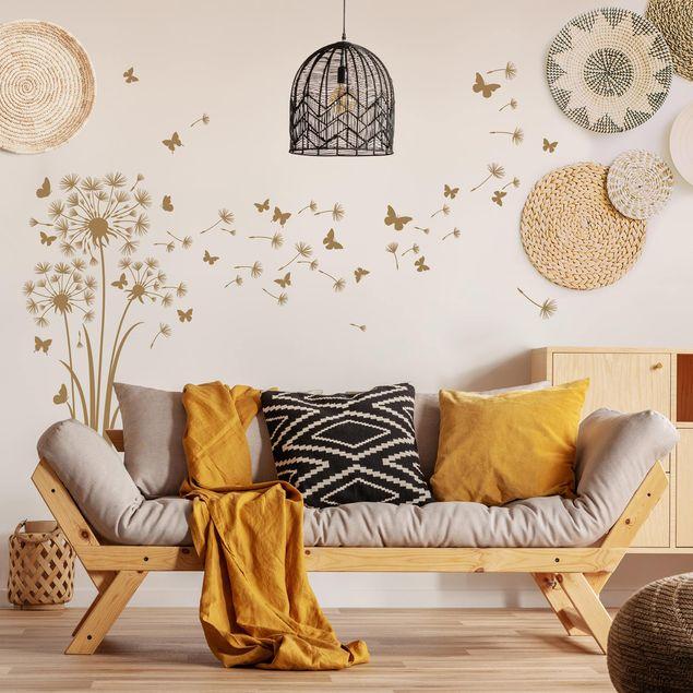 Wandtattoo - Drei detailreiche Pusteblumen