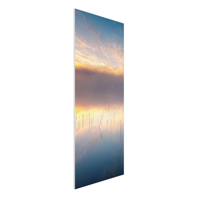 Forex Fine Art Print - Sonnenaufgang schwedischer See - Panel