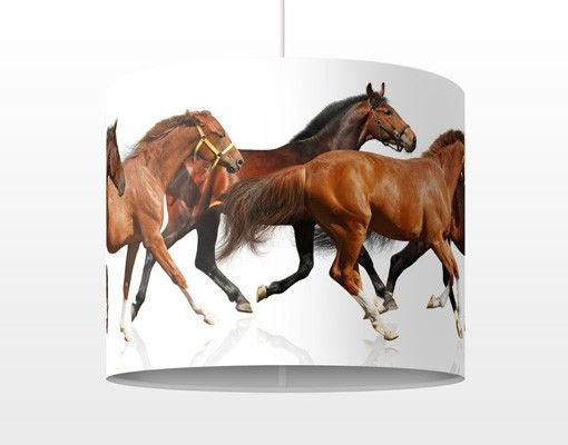 Hängelampe - Pferdeherde