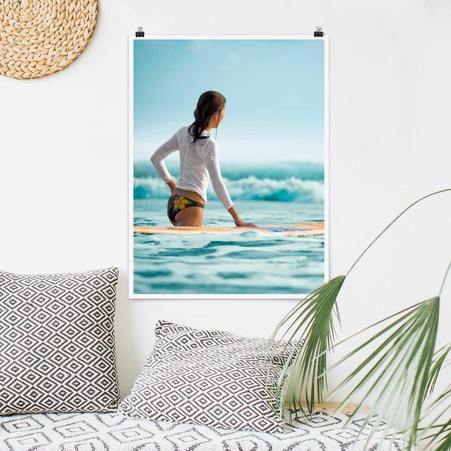 Poster - Wellenreiterin - Hochformat 3:4