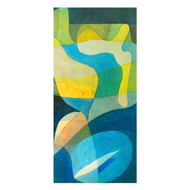 Magnettafel - Paul Klee - Lichtbreitung - Memoboard Panorama Hochformat 2:1
