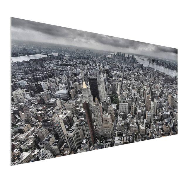 Forex Fine Art Print - Blick über Manhattan - Querformat 1:2