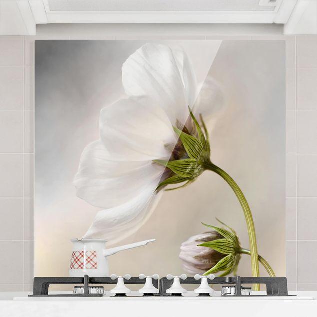 Glas Spritzschutz - Himmlischer Blütentraum - Quadrat - 1:1