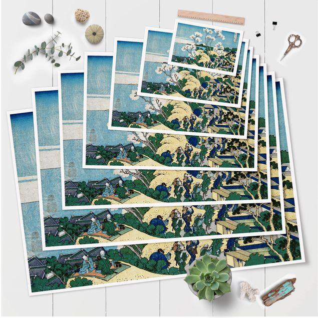 Poster - Katsushika Hokusai - Der Fuji von Gotenyama - Querformat 2:3