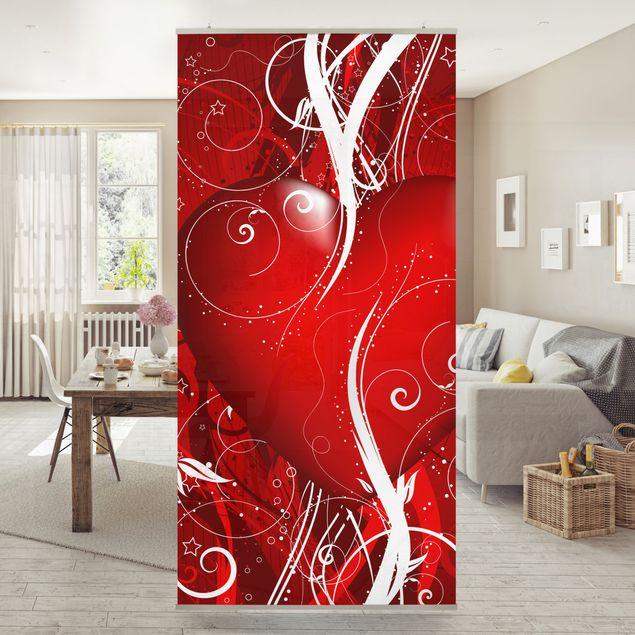 Raumteiler - Floral Heart 250x120cm