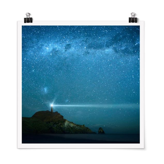 Poster - Leuchtturm - Quadrat 1:1