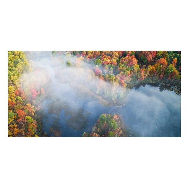 Forex Fine Art Print - Luftbild - Herbst Symphonie - Querformat 1:2