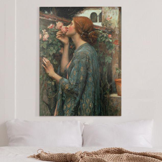 Leinwandbild - John William Waterhouse - Die Seele der Rose - Hochformat 4:3