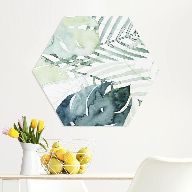 Hexagon Bild Forex - Palmwedel in Wasserfarbe I