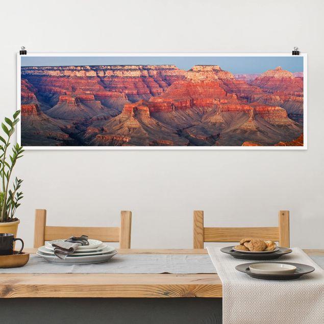 Poster - Grand Canyon nach dem Sonnenuntergang - Panorama Querformat