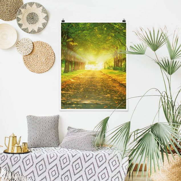 Poster - Autumn Avenue - Hochformat 3:4